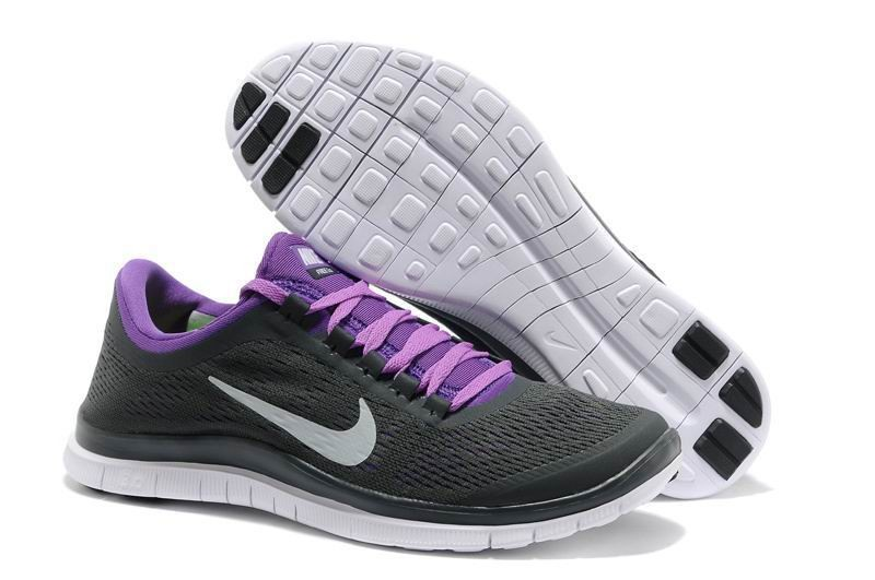 Mens Nike Free 3.0 V5 Black Purple Running Shoes