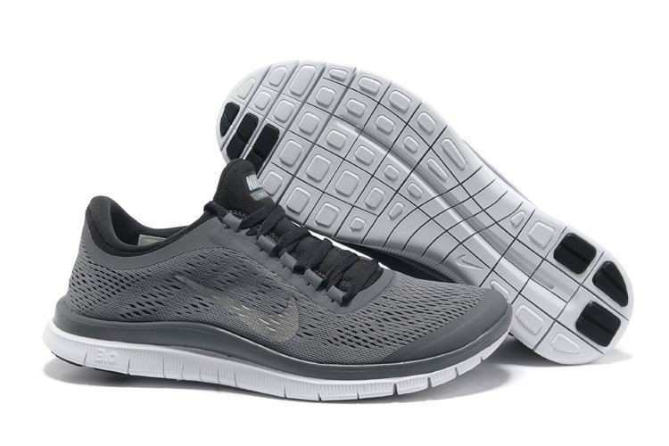 Mens Nike Free 3.0 V5 Grey Black Running Shoes