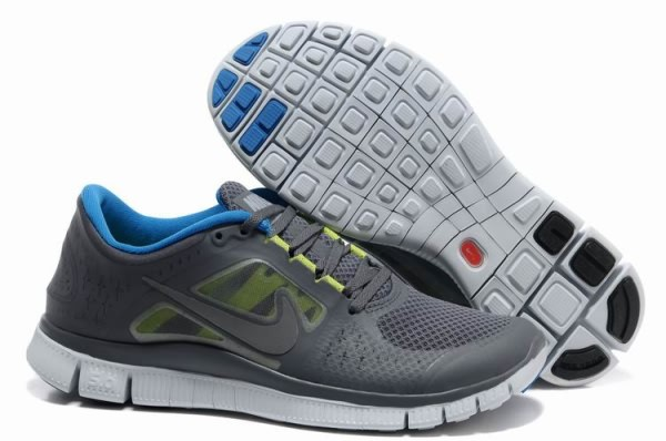 Mens Nike Free 5.0 V3 Dark Grey Royal Blue Running Shoes