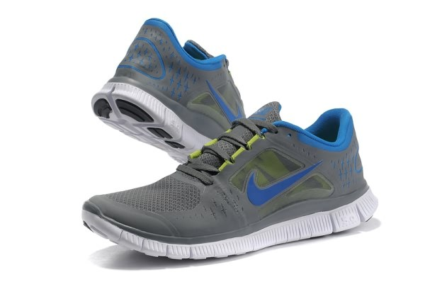 Mens Nike Free 5.0 V3 Grey Blue Running Shoes