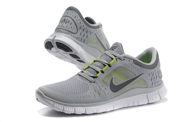 Mens Nike Free 5.0 V3 Grey Green Running Shoes