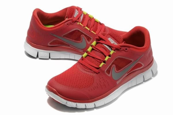 Mens Nike Free 5.0 V3 Red White Running Shoes