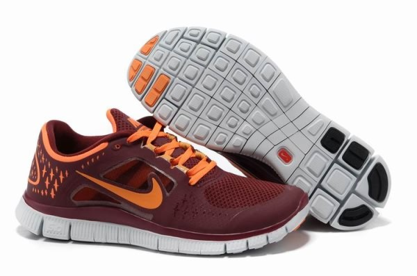 Mens Nike Free 5.0 V3 Team Red Orange Running Shoes