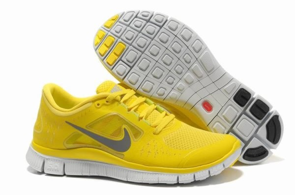 Mens Nike Free 5.0 V3 Yellow Silver Running Shoes