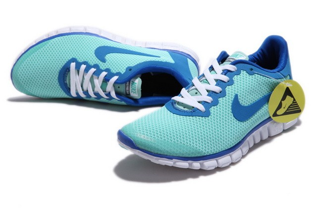 Mens Nike Free Run 3.0 V2 Turquoise Blue Running Shoes