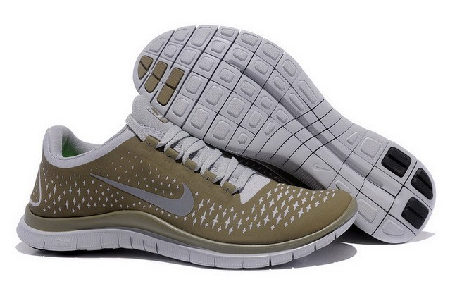 Mens Nike Free Run 3.0 V4 Brown Reflect Silver Running Shoes