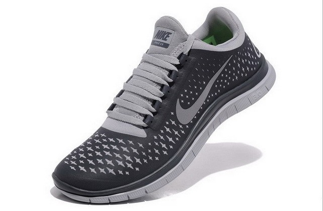 Mens Nike Free Run 3.0 V4 Carbon Reflect Silver Running Shoes