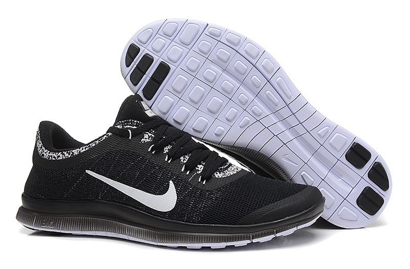 Mens Nike Free Run 3.0 V6 Black White Running Shoes