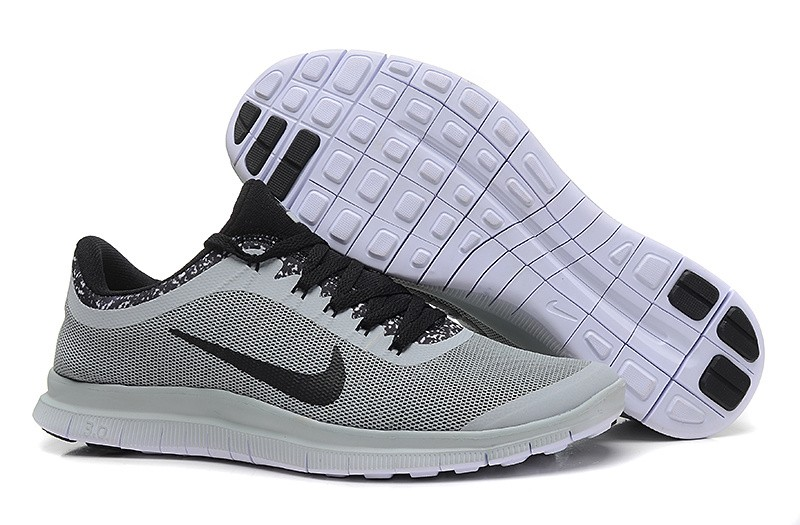 Mens Nike Free Run 3.0 V6 Grey Black Running Shoes