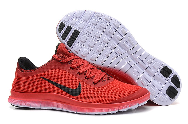 Mens Nike Free Run 3.0 V6 Red Black Running Shoes