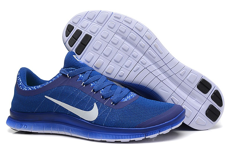 Mens Nike Free Run 3.0 V6 Sapphire Blue Running Shoes