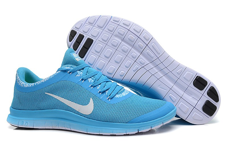 Mens Nike Free Run 3.0 V6 Sky Blue Running Shoes