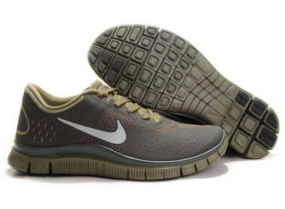 Mens Nike Free Run 4.0 V2 Army Green Running Shoes