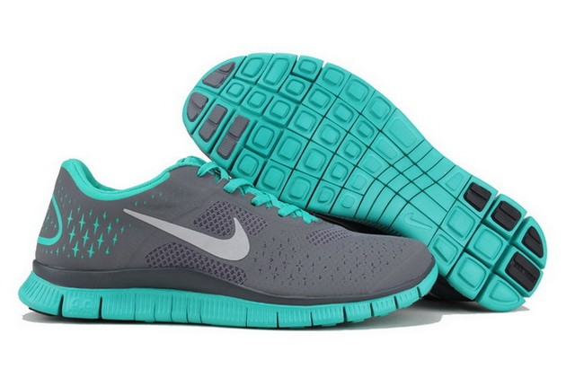 Mens Nike Free Run 4.0 V2 Teal Blue Running Shoes