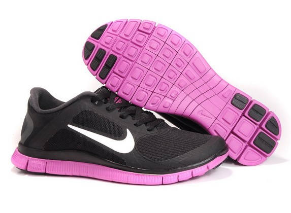 Mens Nike Free Run 4.0 V3 Black Pink Running Shoes