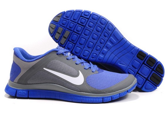Mens Nike Free Run 4.0 V3 Grey Violet Running Shoes
