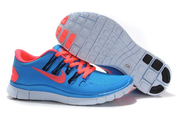 Mens Nike Free Run 5.0 V2 Blue Orange Running Shoes