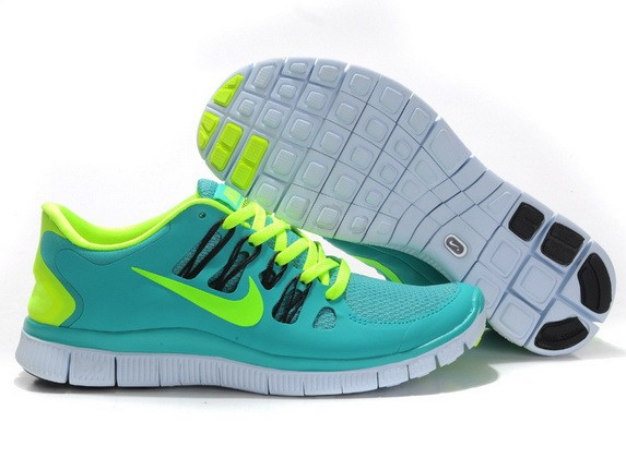Mens Nike Free Run 5.0 V2 Green Yellow Running Shoes