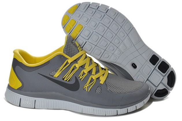 Mens Nike Free Run 5.0 V2 Grey Orange Running Shoes