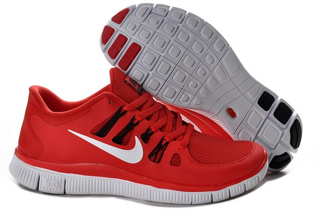 Mens Nike Free Run 5.0 V2 Red White Running Shoes