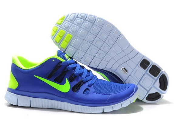 Mens Nike Free Run 5.0 V2 Sapphire Blue Green Running Shoes