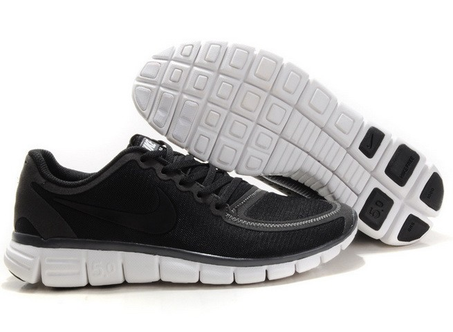 Mens Nike Free Run 5.0 V4 Black Running Shoes