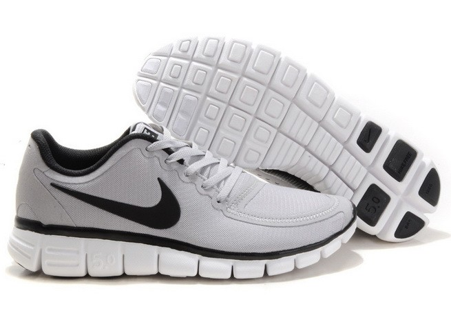 Mens Nike Free Run 5.0 V4 Grey Black Running Shoes