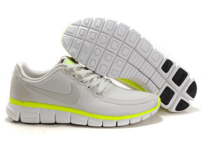 Mens Nike Free Run 5.0 V4 Grey Green Running Shoes