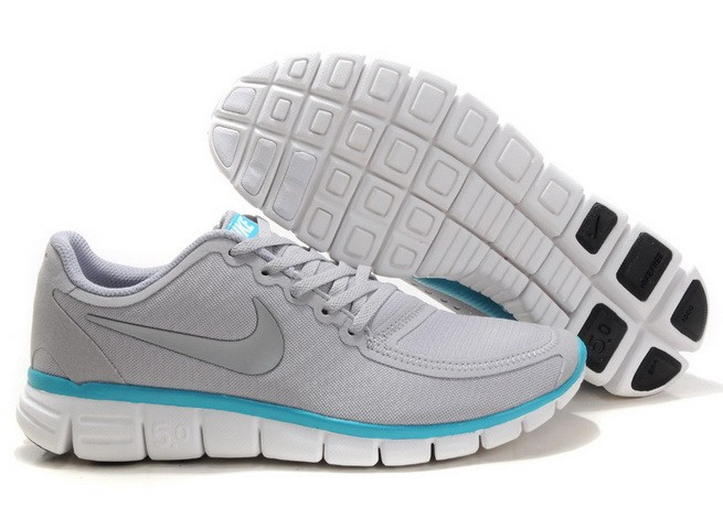Mens Nike Free Run 5.0 V4 Grey Jade Running Shoes