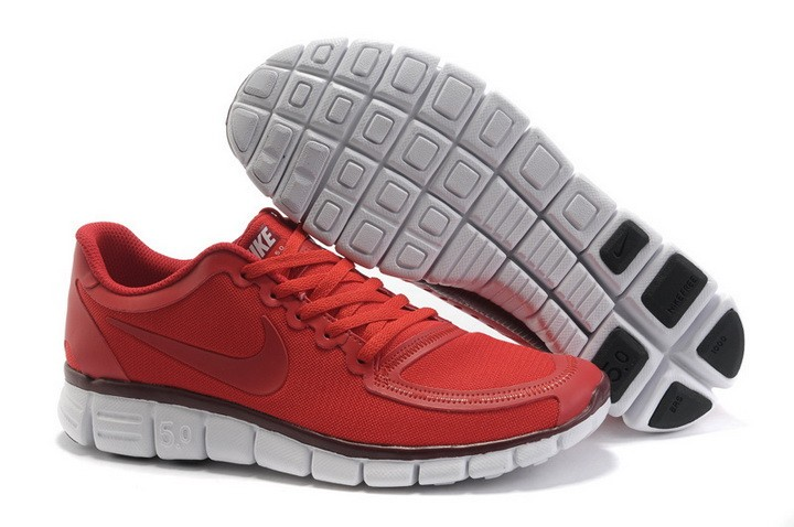 Mens Nike Free Run 5.0 V4 Red Running Shoes