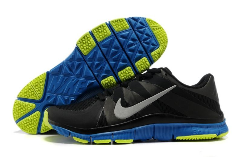 Mens Nike Free Trainer 5.0 V3 Black Royal Volt Training Shoes