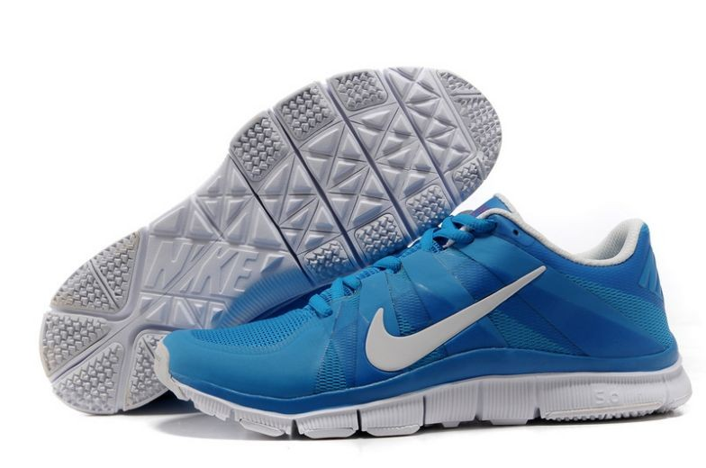 Mens Nike Free Trainer 5.0 V3 Blue White Training Shoes