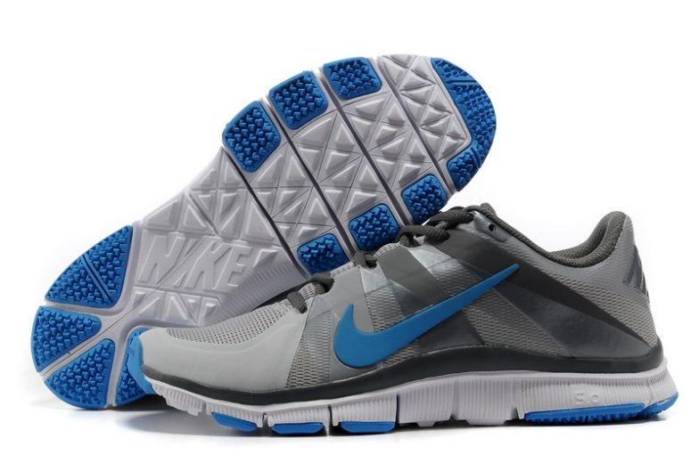 Mens Nike Free Trainer 5.0 V3 Grey Blue White Training Shoes