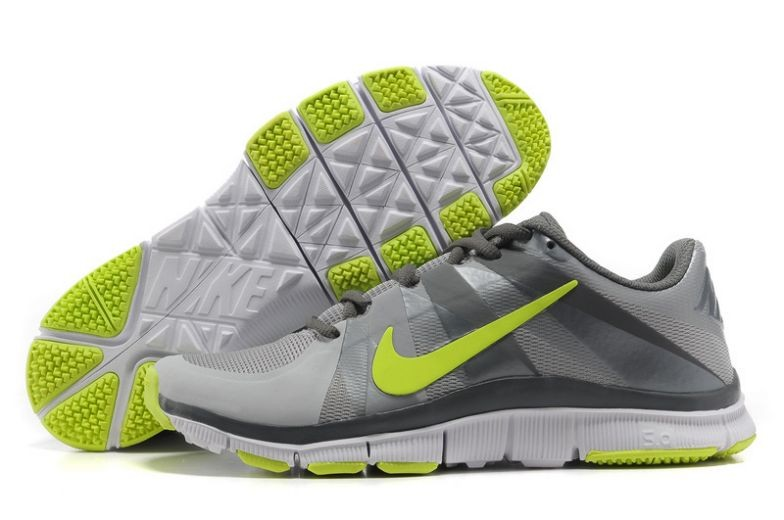 Mens Nike Free Trainer 5.0 V3 Grey Volt White Training Shoes