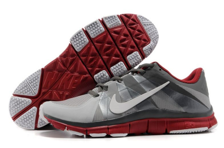 Mens Nike Free Trainer 5.0 V3 Grey White Red Training Shoes