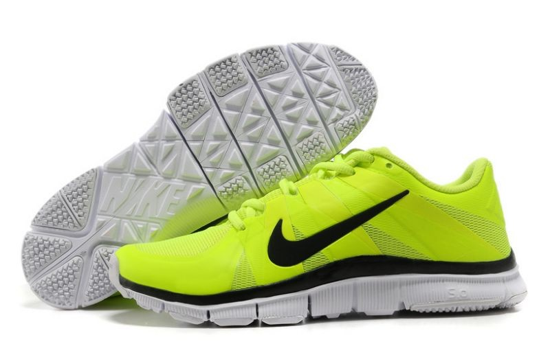 Mens Nike Free Trainer 5.0 V3 Volt Black White Training Shoes