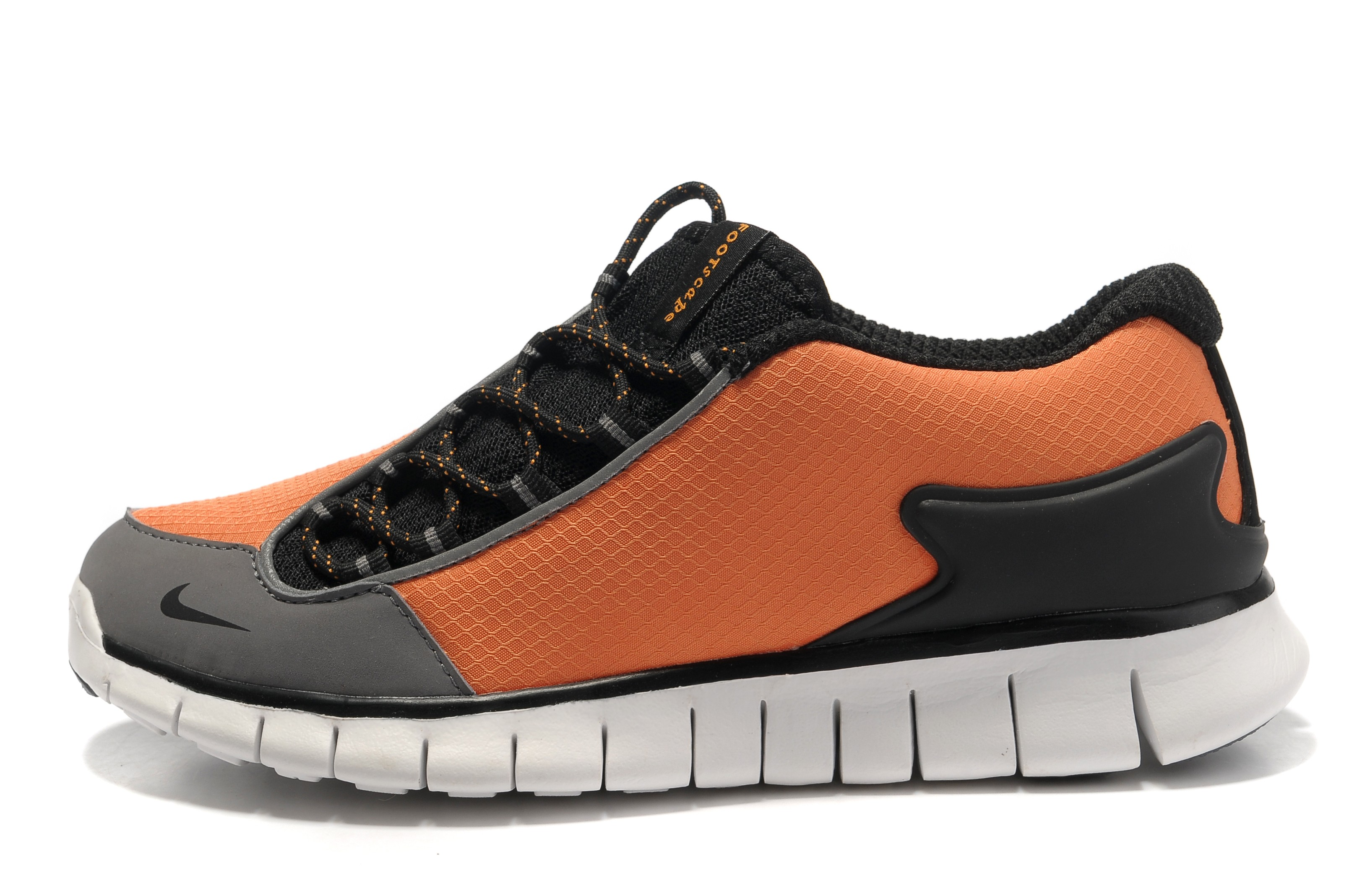 Nike Air Footscape Free Mens Sneakers Total Orange Grey
