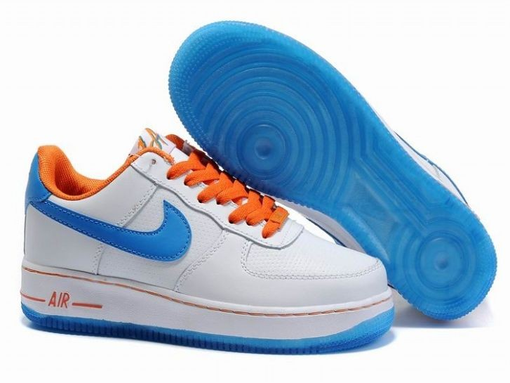 Nike Air Force 1 Low 07 Women's Shoe Hyper Blue White Orange