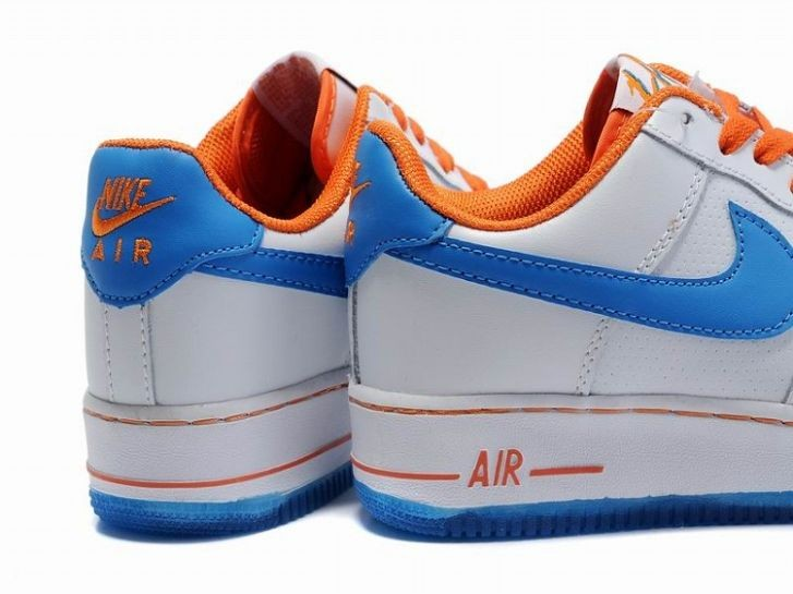 Nike Air Force 1 Low 07 Women\'s Shoe Hyper Blue White Orange