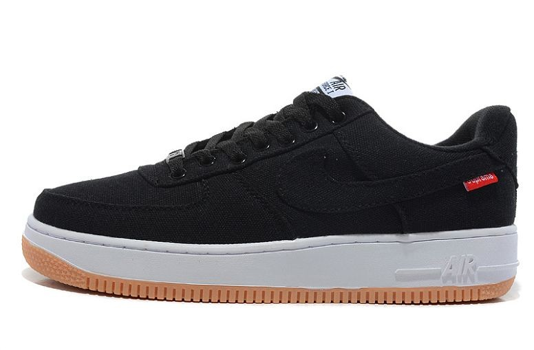 Nike Air Force 1 Low Mens Trainers Black Canvas