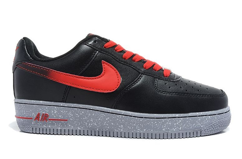 Nike Air Force 1 Low Mens Trainers Black Red