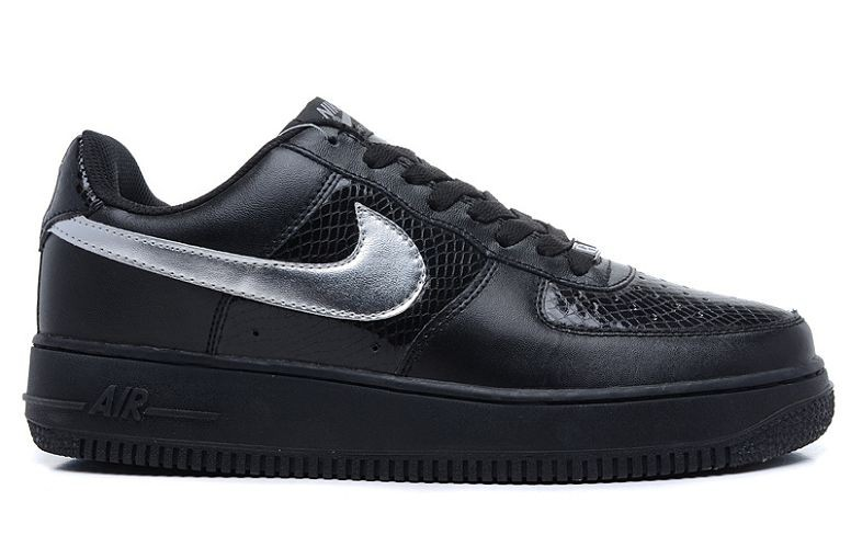 Nike Air Force 1 Low Mens Trainers Black Sliver