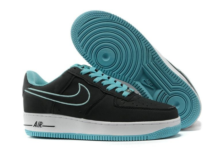 Nike Air Force 1 Low Mens Trainers Black White Blue