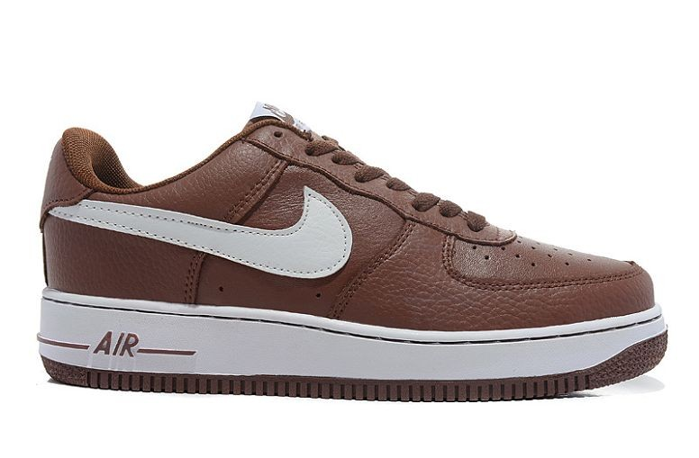 Nike Air Force 1 Low Mens Trainers Brown White