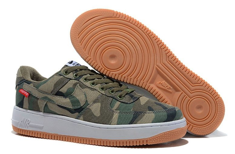 Nike Air Force 1 Low Mens Trainers Camo Canvas