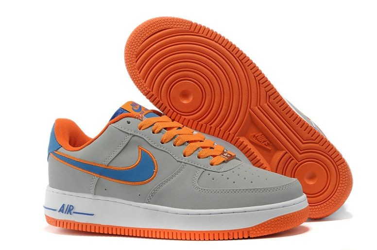 Nike Air Force 1 Low Mens Trainers Grey Blue Orange