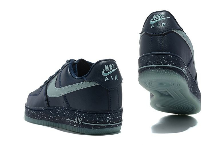 Nike Air Force 1 Low Mens Trainers Navy Light Blue