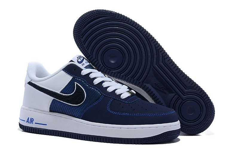 Nike Air Force 1 Low Mens Trainers Navy White