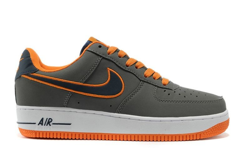 Nike Air Force 1 Low Mens Trainers White Gray Orange