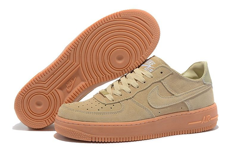 Nike Air Force 1 Low Suede Mens Shoes Beige